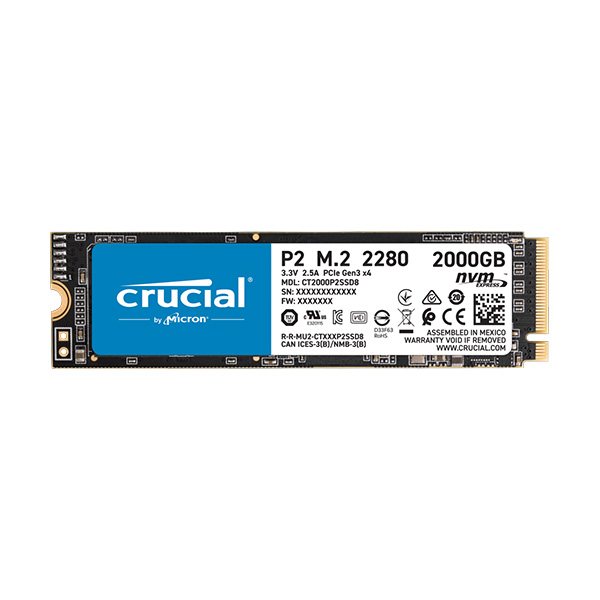 Crucial internal SSD - P2 NVME - 2TB